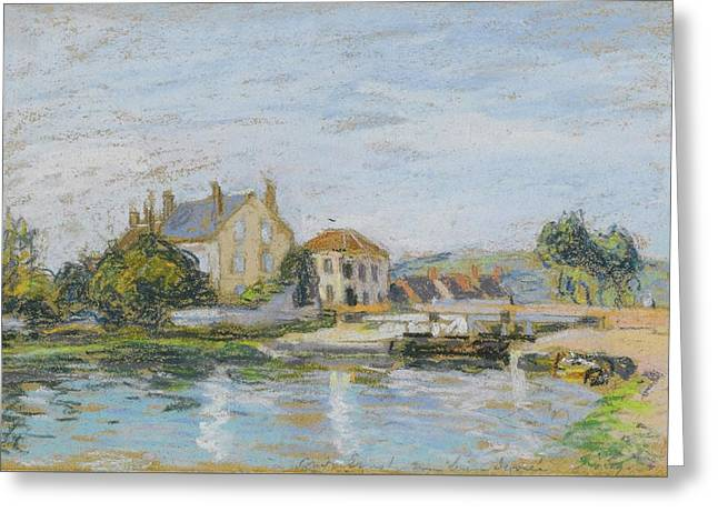 River Greeting Card by Alfred Sisley