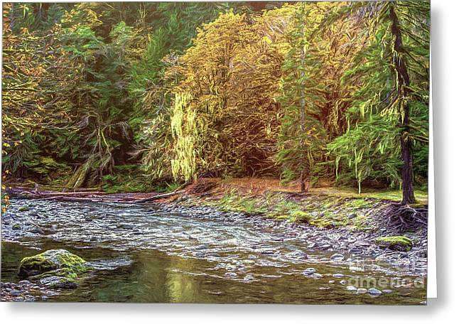 River Autumn Greeting Card