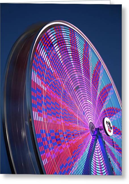 River Bandit's Spinning Ferris Wheel Greeting Card