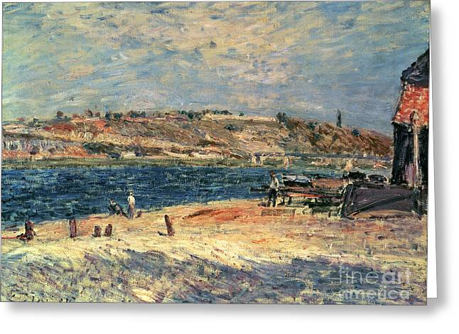 River Banks At Saint-mammes Greeting Card