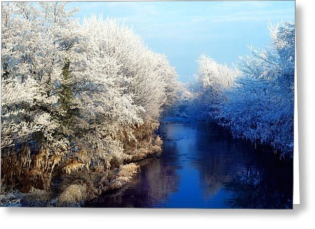 Best Sellers -  - Trees Reflecting In Water Greeting Cards - River Bann, Co Armagh, Ireland Greeting Card by The Irish Image Collection