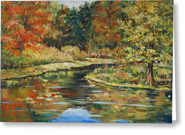 River Bend Greeting Card by Alexandra Maria Ethlyn Cheshire