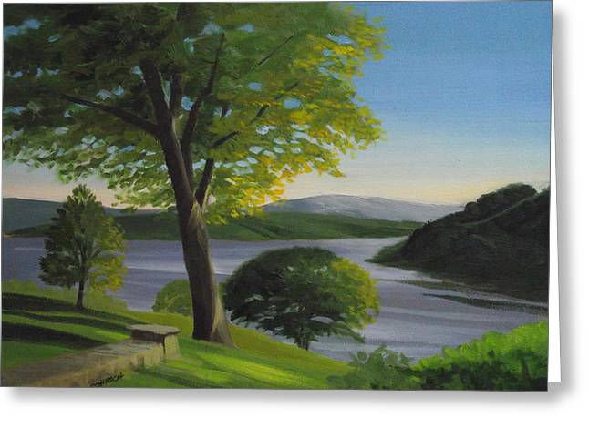 River Bend Greeting Card by Robert Rohrich
