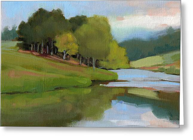 River Bend Study Greeting Card by Todd Baxter