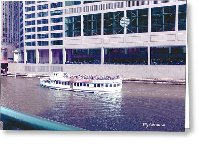 River Boat Tour Greeting Card