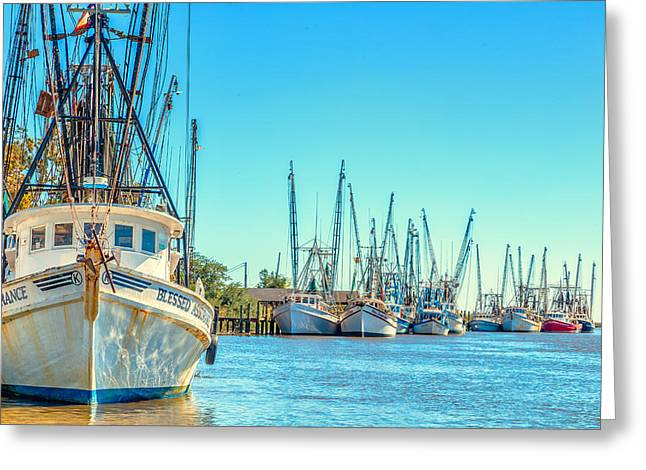 Shrimp Boats 4 Greeting Card by Gestalt Imagery