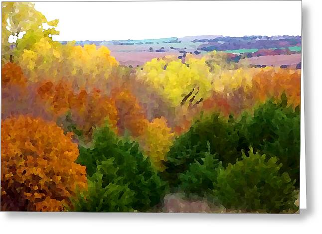 River Bottom In Autumn Greeting Card