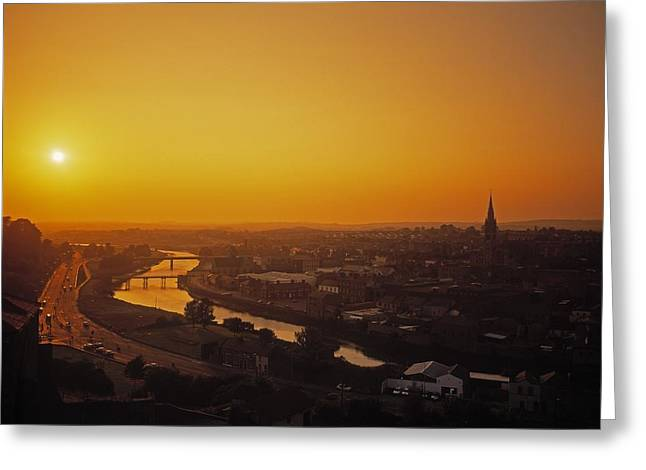 River Boyne, Drogheda, Co Louth, Ireland Greeting Card by The Irish Image Collection