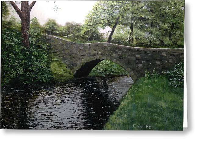 River Bridge Greeting Card