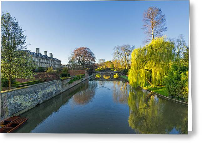 Greeting Card featuring the photograph River Cam by James Billings