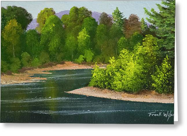 Greeting Card featuring the painting River Confluence by Frank Wilson