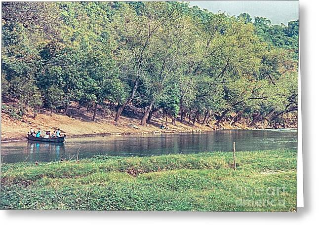Greeting Card featuring the photograph River Crossing by Charles McKelroy