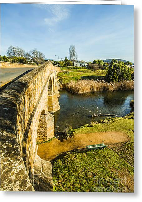 River Crossing Greeting Card by Jorgo Photography - Wall Art Gallery