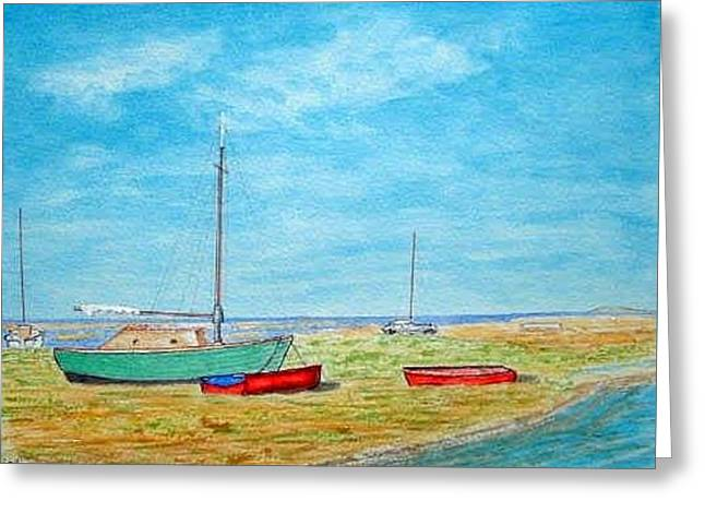 River Dee - Heswall Shore Greeting Card
