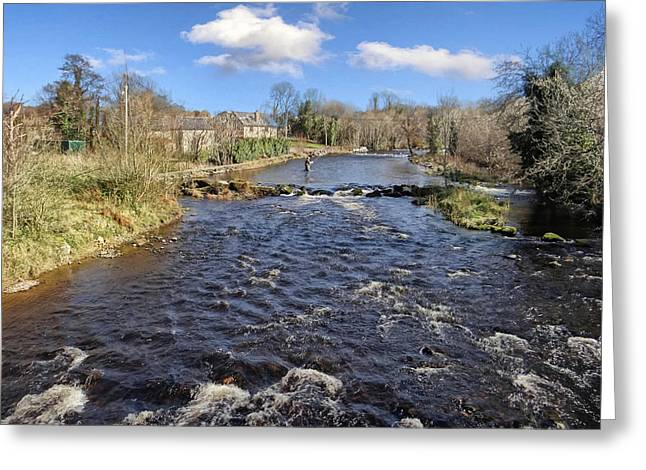 River Drowse At Kinlough, Leitrim - One Of The Best Trout And Salmon Fishing Rivers In Ireland Greeting Card