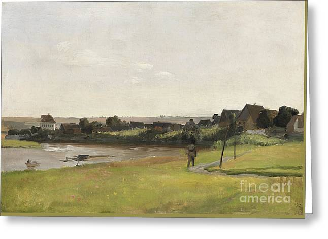 River Elbe Greeting Card by Celestial Images