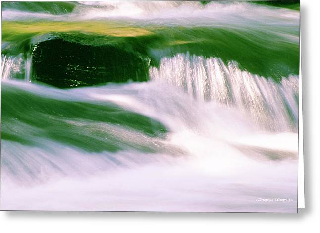 White River Scene Greeting Cards - River Flowing Over Rocks Greeting Card by Gordon Wood