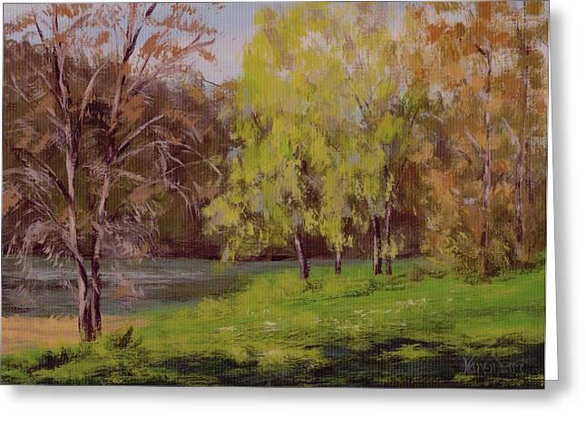 River Forks Spring 2 Greeting Card by Karen Ilari