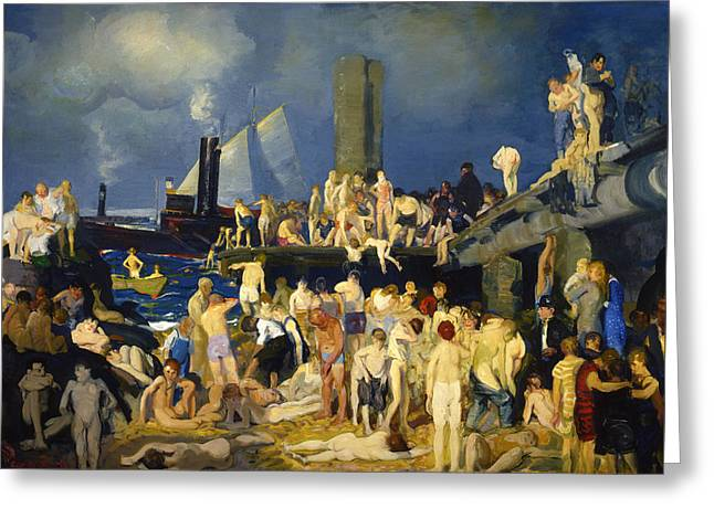 River Front Greeting Card by George Bellows