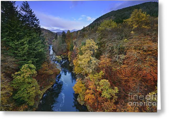 River Garry - Scotland Greeting Card by Rod McLean