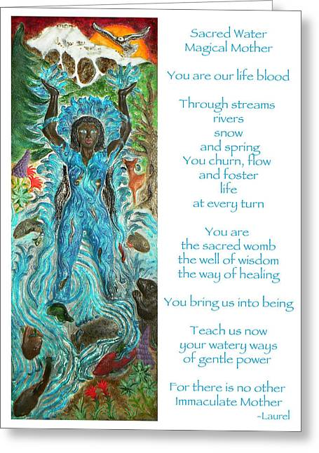 River Goddess Of Many Lands Greeting Card