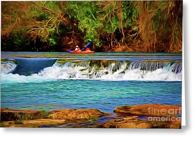 River Good Times 121217-1 Greeting Card