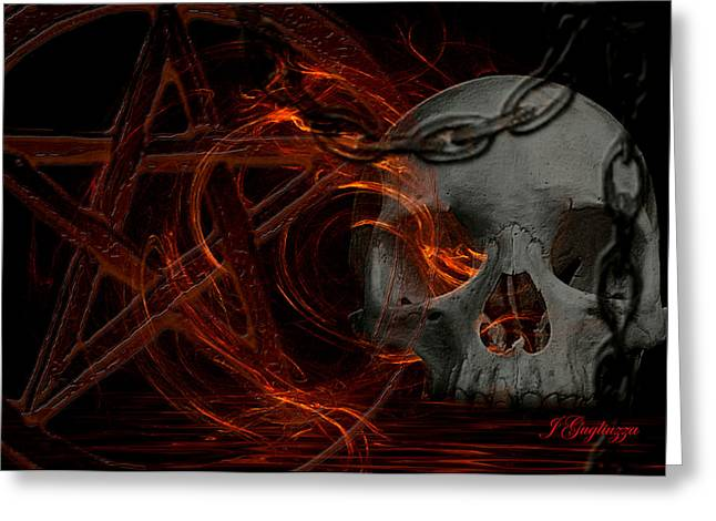River Hell Greeting Card by Jean Gugliuzza