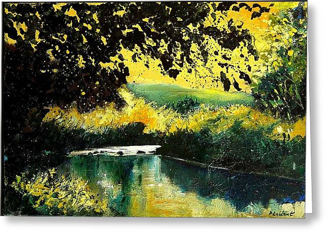 River Houille  Greeting Card by Pol Ledent