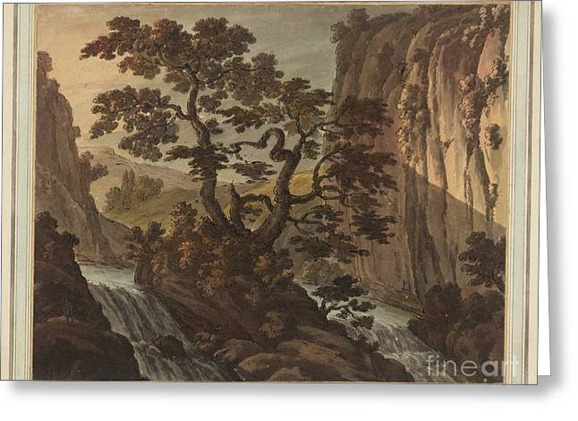 River In A Gorge Greeting Card by MotionAge Designs
