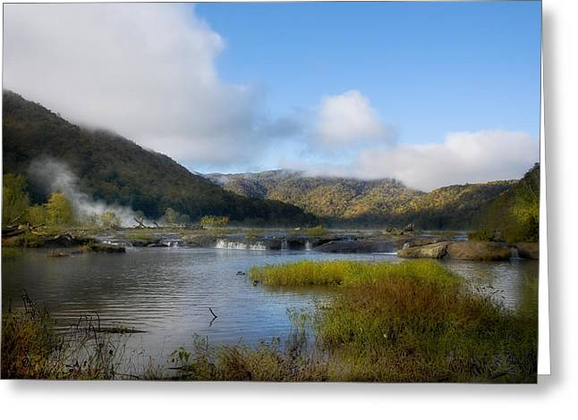 River In The Mountains Greeting Card by John Mueller