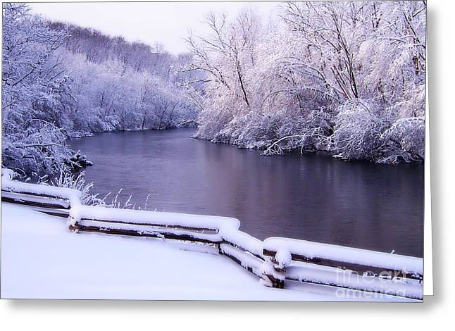 River In Winter Greeting Card