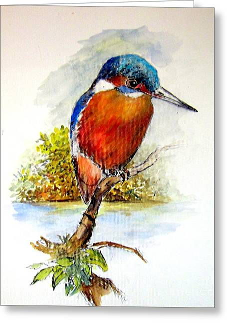 River Kingfisher Greeting Card