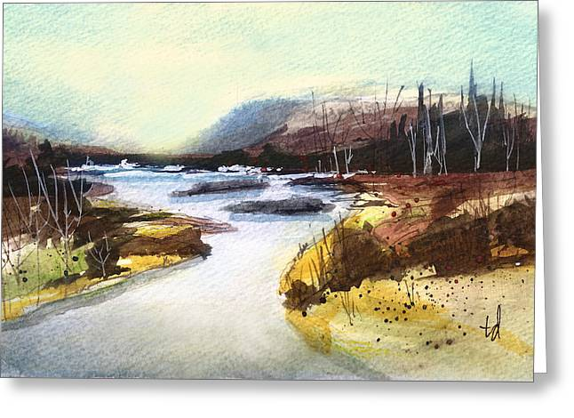 River Landscape 1 Greeting Card