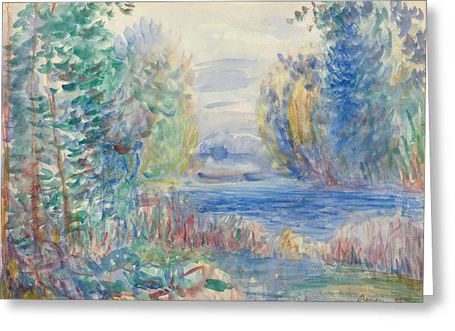 River Landscape Greeting Card by Auguste Renoir