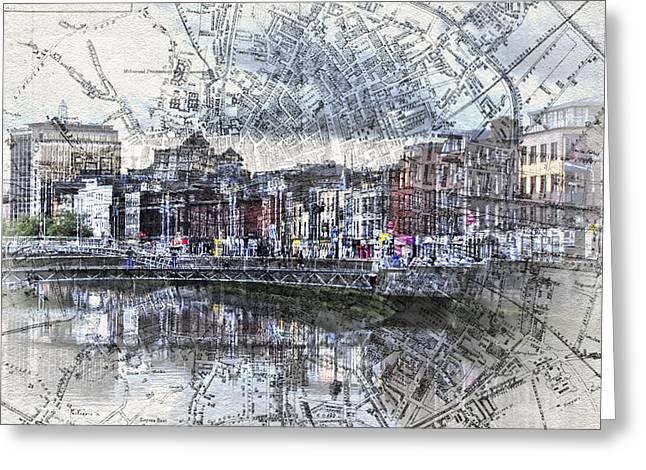 River Liffey Dublin Greeting Card