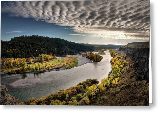 River Light Greeting Card by Leland D Howard