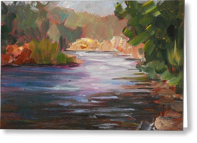 River Light Greeting Card