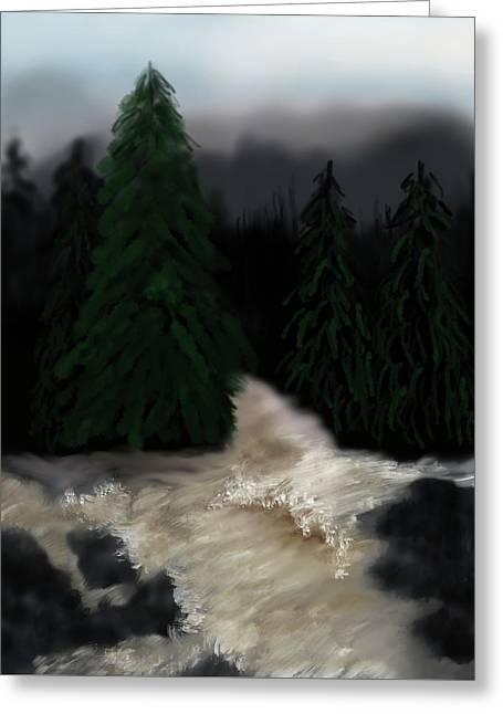 River North Carolina  Greeting Card
