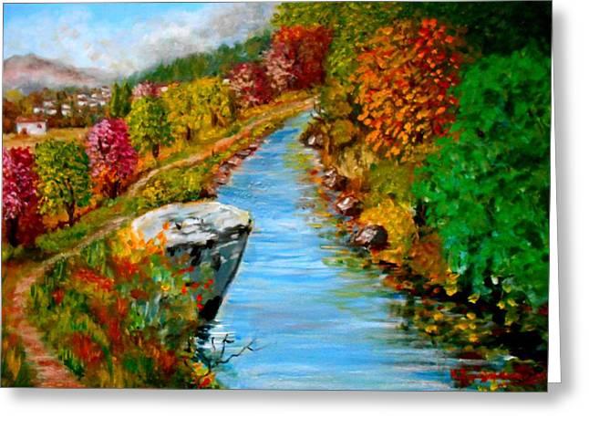River Lousios  Greeting Card