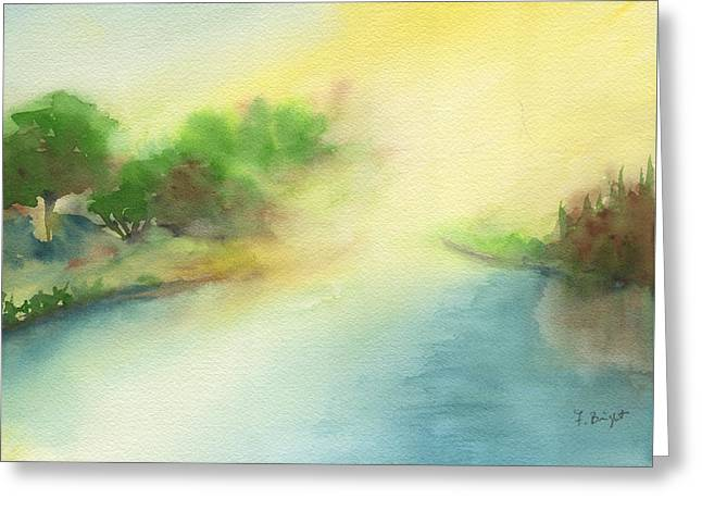 River Morning Greeting Card