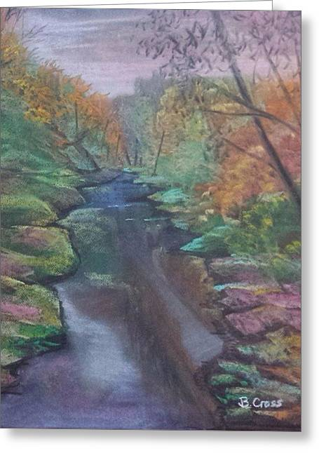 River In The Fall Greeting Card