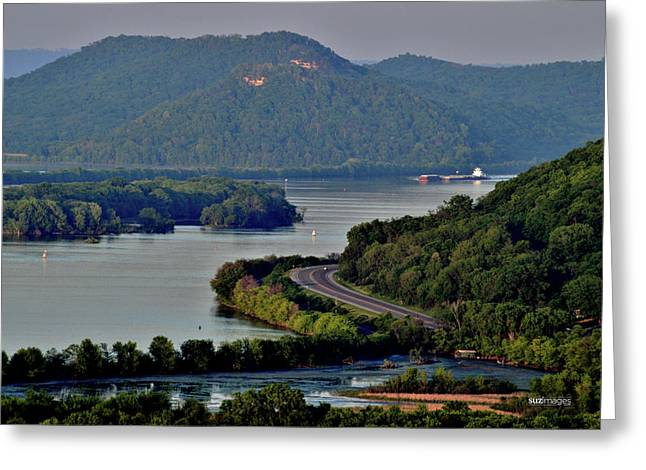 River Navigation Greeting Card