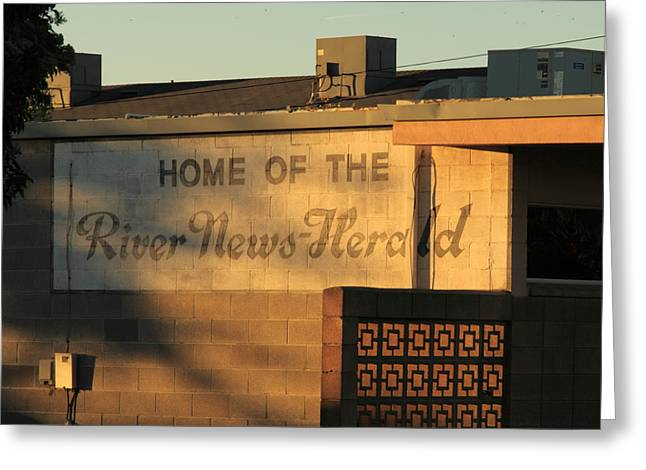 River News-herald Greeting Card by Troy Montemayor