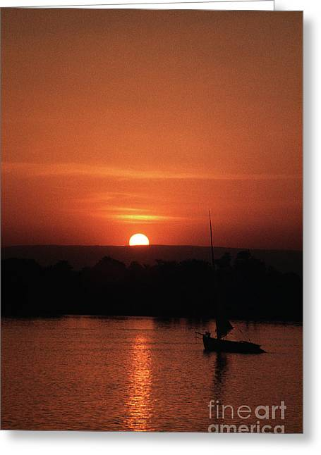 River Nile Sunset Greeting Card by Rick Piper Photography