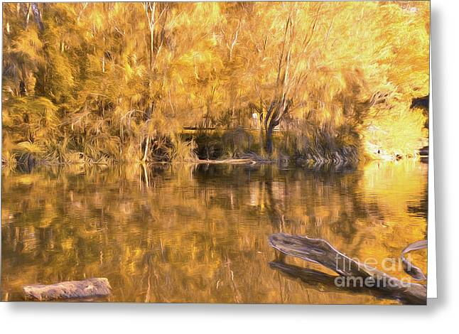 River Of Fire By Kaye Menner Greeting Card