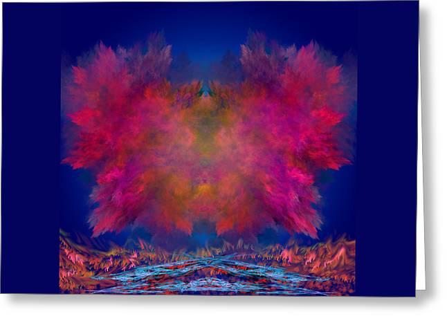 River Of Fire Greeting Card by Mark W Ballard