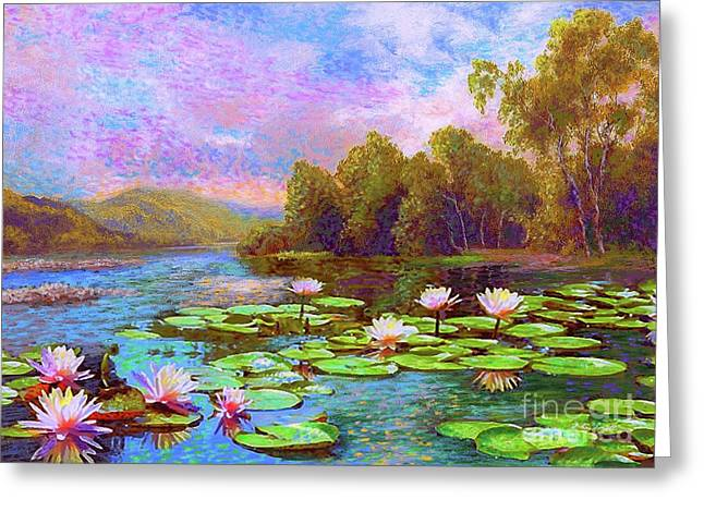 The Wonder Of Water Lilies Greeting Card