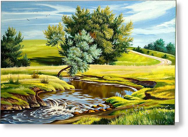River Of Life Greeting Card by Karen Showell