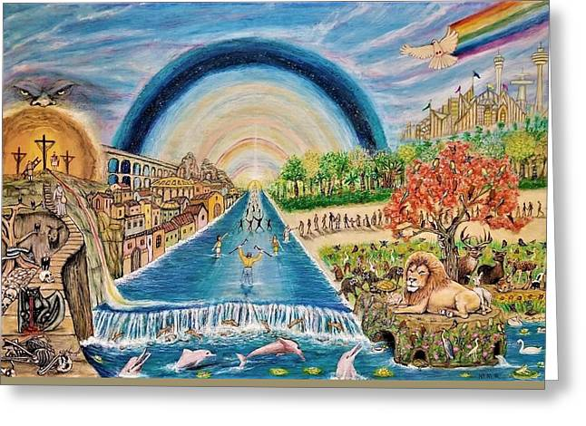 River Of Life Greeting Card by Neal David Reilly