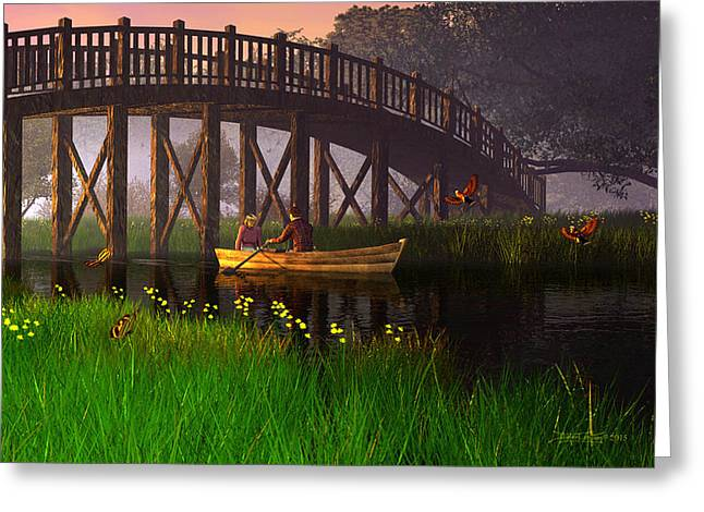 River Of Poems Greeting Card by Dieter Carlton